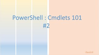 running powershell cmdlet basics
