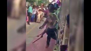 s of Chennai students dragging machetes and knives along rail platform surface, cops probe