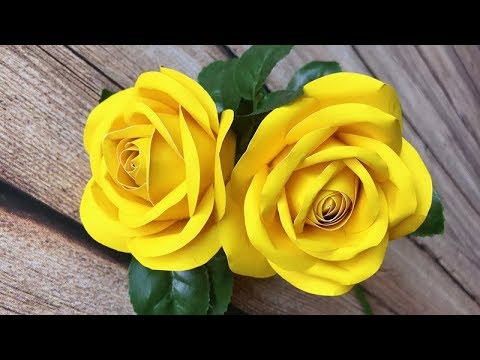 ABC TV | How To Make Rose Paper Flower | DIY Template With One Cut- Craft Tutorial