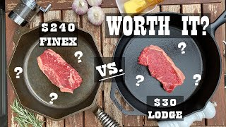 Steak Experiments - Lodge vs  Finex Cast Iron Pan