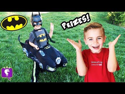 BATMAN CAR Adventure Hunt! Surprise Toys + Family Fun ToysReview HobbyKidsTV