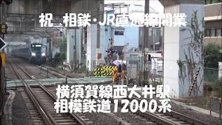祝 相鉄・JR直通線開業 横須賀線西大井駅にて相鉄12000系撮影 2019 12 02