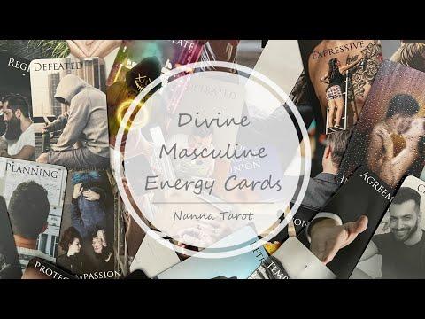 開箱  神聖男性能量指引卡 • Divine Masculine Energy Cards // Nanna Tarot