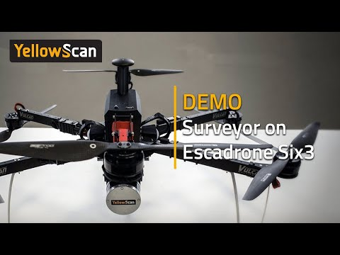 Demo YellowScan Surveyor on the Escadrone Six3  + real-time Point Cloud with the LiveStation