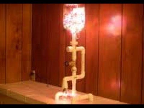 Como hacer lamparas con ca os de pvc 8 youtube - Manualidades con lamparas ...