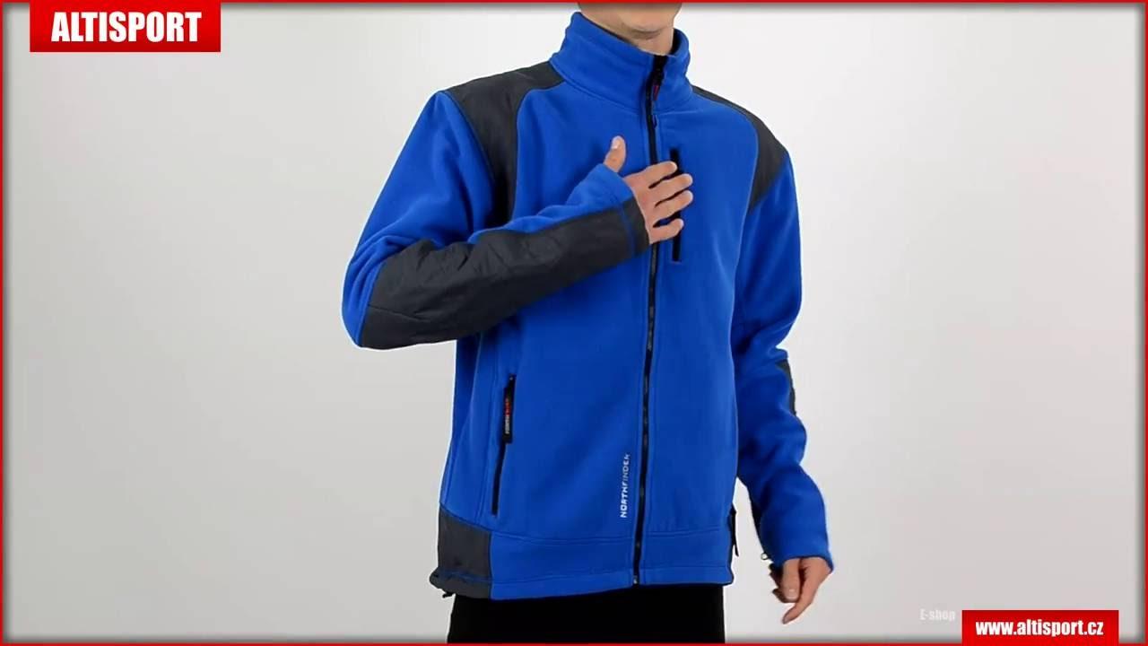 2edf95a2966 pánská fleece mikina northfinder enoach mi 3170or tmavě modrá - YouTube