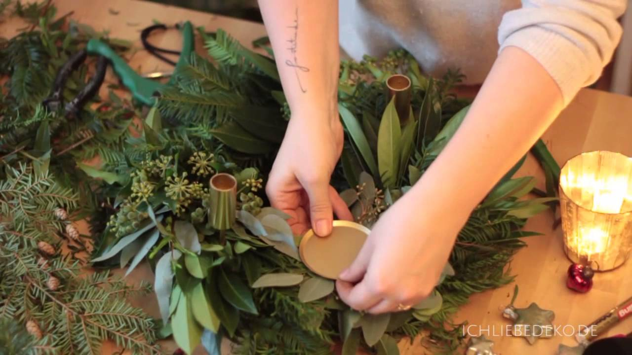 Diy adventskranz binden
