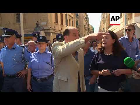 Protest over the car bombing of Malta journalist streaming vf