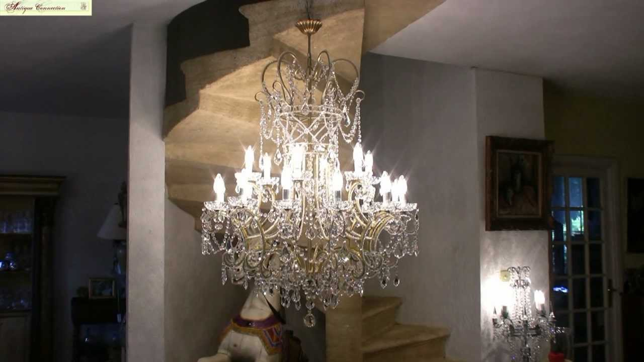 lustre pampilles en cristal de boh me youtube. Black Bedroom Furniture Sets. Home Design Ideas