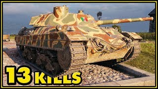 P.43 bis - 13 Kills - 1 vs 7 - World of Tanks Gameplay