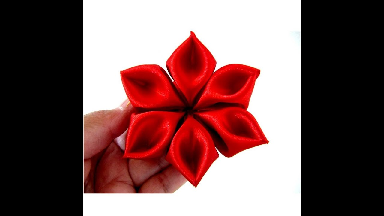 Flores Pétalos Diamantes En Cintas Para El Cabello Paso A Paso Youtube