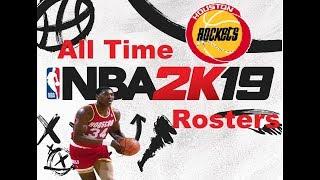 NBA 2K19 Roster Edit All Time Houston Rockets