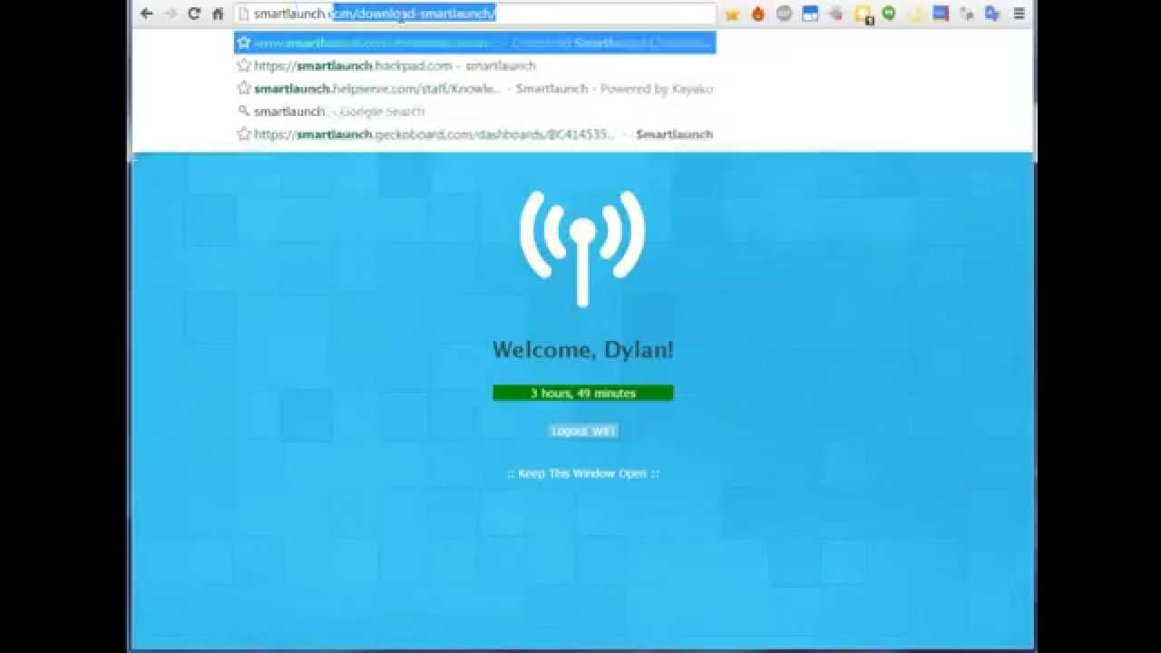 Smartlaunch WiFi Captive Portal Login Introduction (1 0 3)