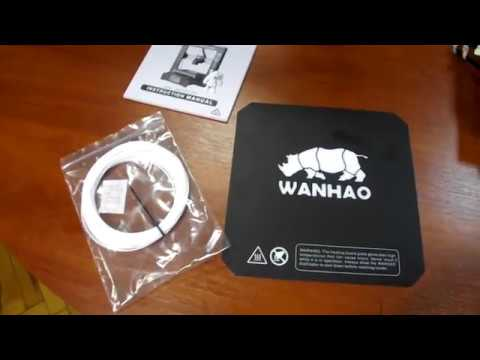 3D принтер Wanhao Duplicator I3 Plus. Сборка, подключение, подготовка к печати