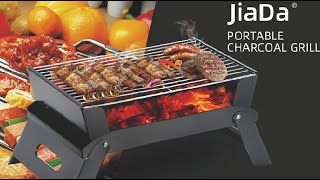 JiaDa Portable Barbecue Grill,Newstyle BBQ Charcoal Smoker Grill Review, Large cooking space