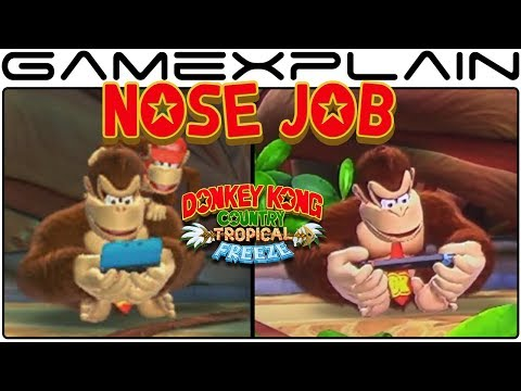 DK Got a Nose Job for DKC: Tropical Freeze on Nintendo Switch (Character Model Change)