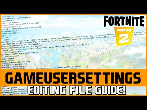 📌Fortnite Chapter 2 | GameUserSettings File Editing To Dramatically Improve FPS/Perfomance On PC