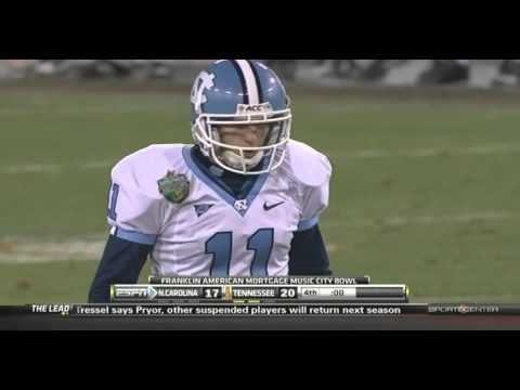 UNC FOOTBALL   2010 Music CIty Bowl Wild Ending vs TENN