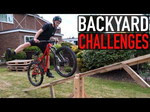 BACKYARD MTB CHALLENGES WITH KARA!