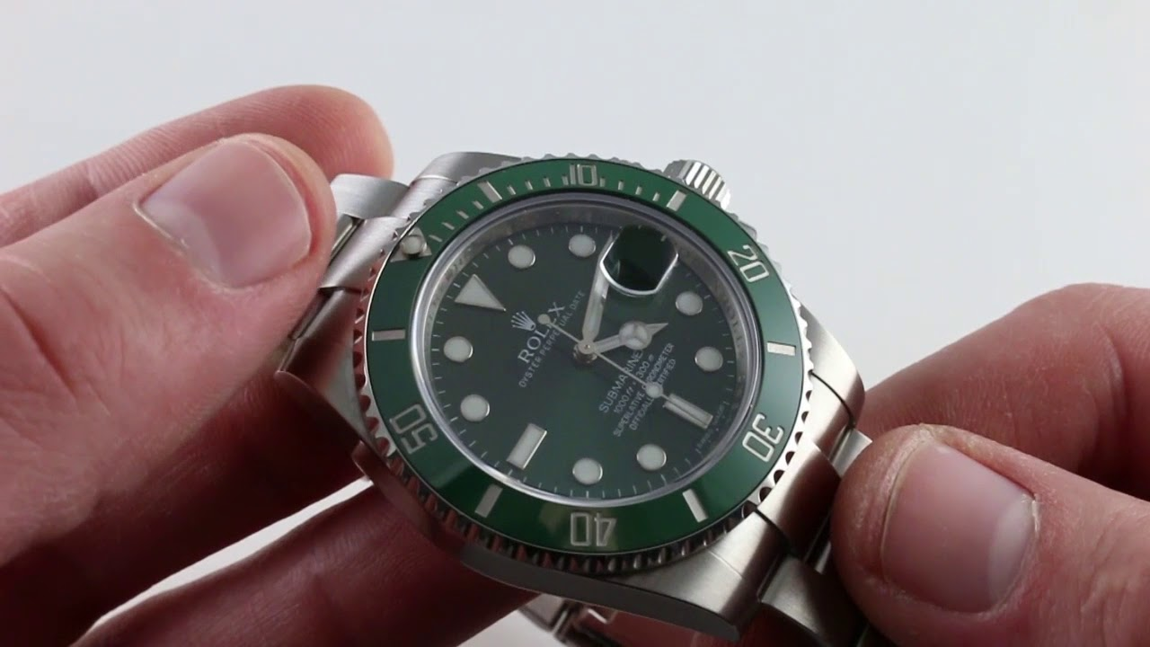 Pre Owned Rolex Submariner Hulk 116610lv Luxury Watch Review Youtube