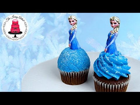 Cake Decorating Icing Artist : Frozen Princess Elsa Cupcake - How To With The Icing ...