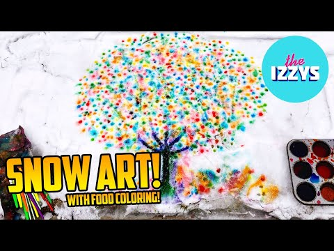 How to Paint on Snow with Food Coloring!