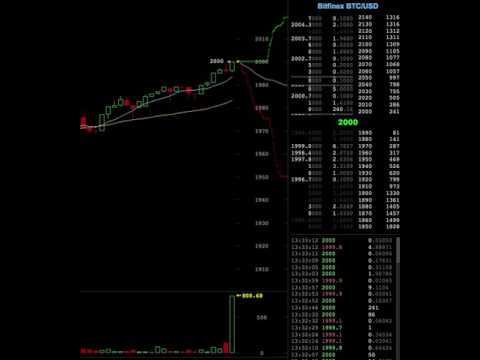 Bitcoin reaches 2000$ for the first time on Bitfinex (full footage)