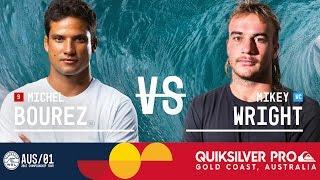 Michel Bourez vs. Mikey Wright - Quiksilver Pro Gold Coast 2017 Round Two, Heat 1