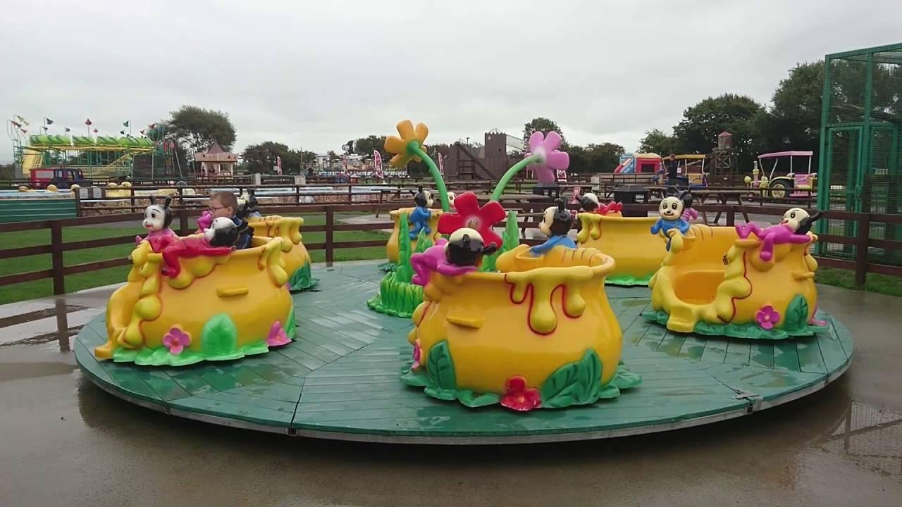Spinning Honeypots Ride At Animal Farm Adventure Park Brean