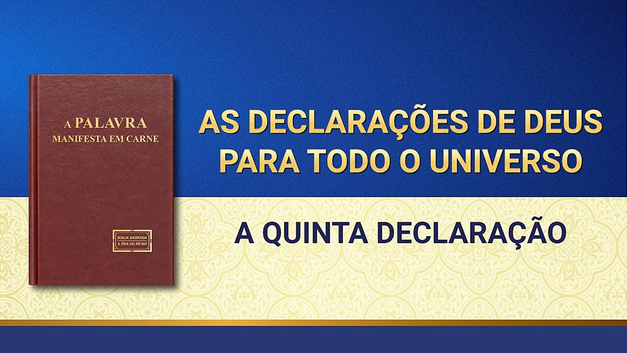 """Palavra de Deus """"As declarações de Deus para todo o universo A quinta declaração"""""""