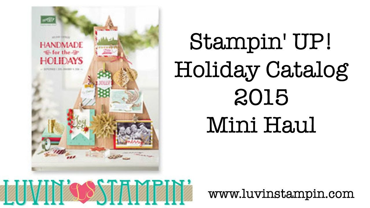 stampin 39 up holiday catalog mini haul 2015 youtube. Black Bedroom Furniture Sets. Home Design Ideas