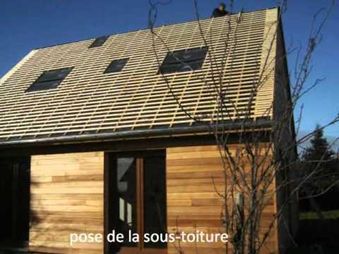 Construction d 39 une maison en ossature bois avec isolation for Maison en bois quel constructeur