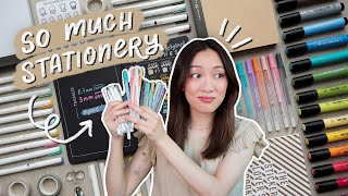 a big stationery haul (testing out new pens & markers)