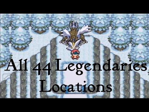 All Legendary Pokemon Locations In Pokemon Light Platinium