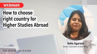 How to choose the right Country for Higher Studies Abroad?