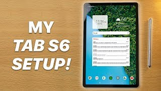 My CUSTOM Galaxy Tab S6 Setup | Nova Launcher