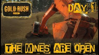 THE GOLD MINES ARE OPEN | DAY 1 Release Gameplay | GOLD RUSH THE GAME