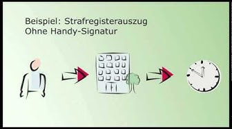Strafregisterauszug mit der Handy-Signatur
