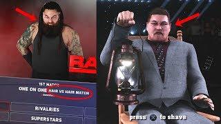 WWE 2K18 - What Happens if Bray Wyatt LOSES Hair vs Hair match in WWE 2K18 Universe?