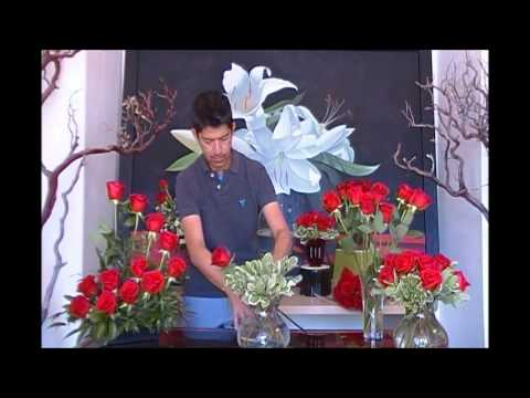 Fresh Ten Films How To Make A Red Rose Arrangement
