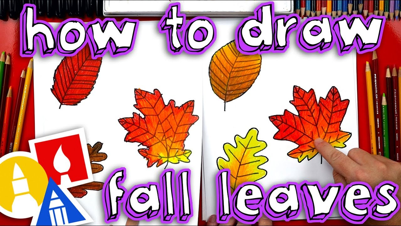 How To Draw Fall Leaves Youtube