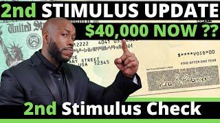 Second STIMULUS CHECK UPDATE!! $40,000? July + SSI SSDI EIDL  Unemployment Insurance Benefits