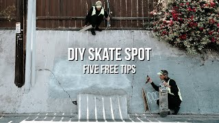 How To DIY Skate Spot | 5 Free…