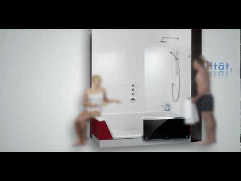repabad easy in die dusche zum baden youtube. Black Bedroom Furniture Sets. Home Design Ideas