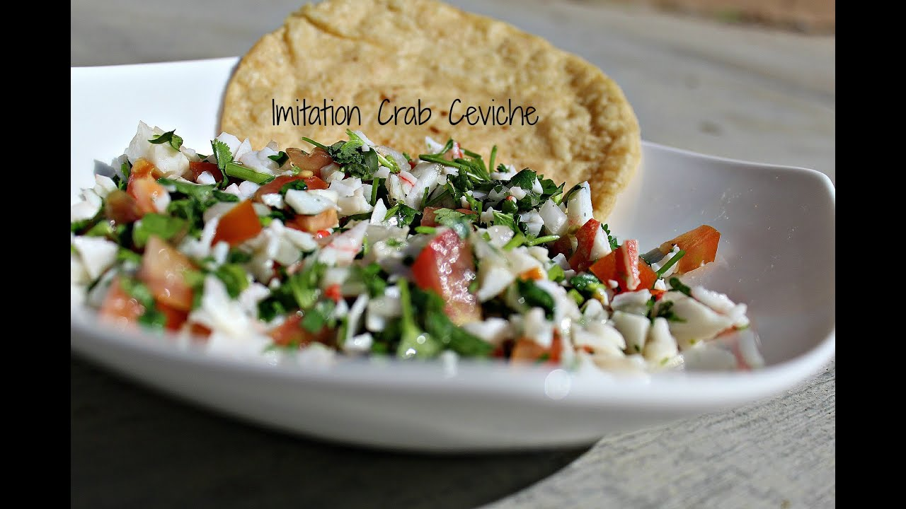 Healthy Snack Imitation Crab Ceviche Youtube