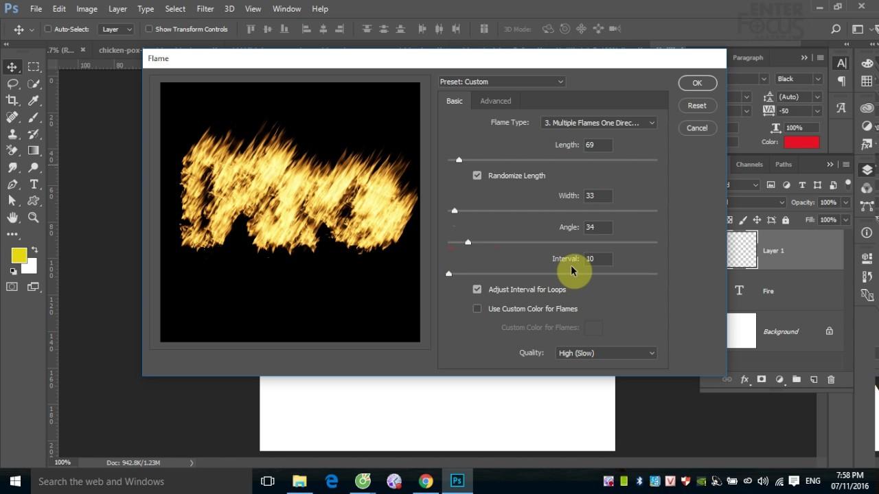 Tạo hiệu ứng lửa cháy với Filter Fire trong Photoshop
