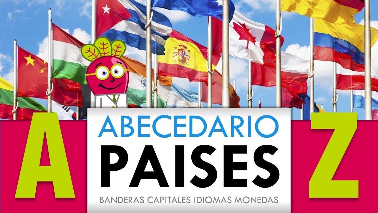 Pintar NiÑos Del Mundo Por Paises Y Banderas: ABC PAISES DEL MUNDO PARA NIÑOS Banderas Y Mapas En