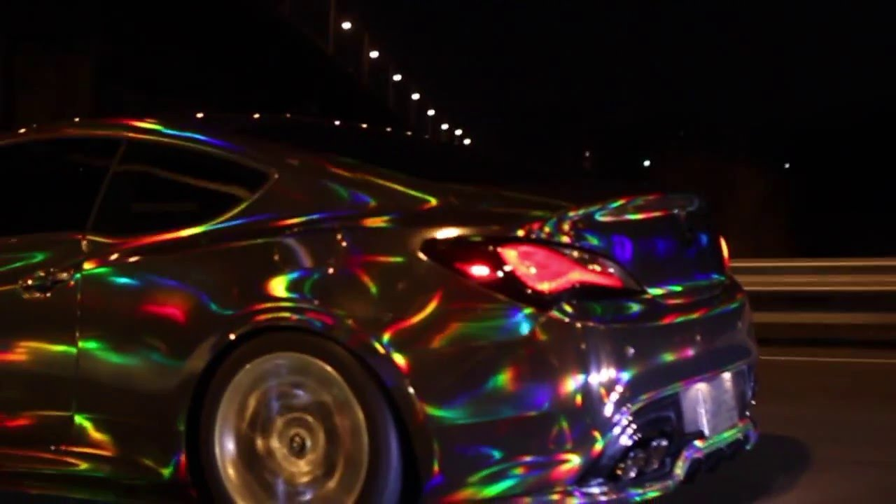 Black Holographic Chrome Wrapped Genesis Coupe Youtube
