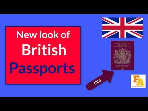UK NEW PASSPORT    This is what a British passport could look like after Brexit
