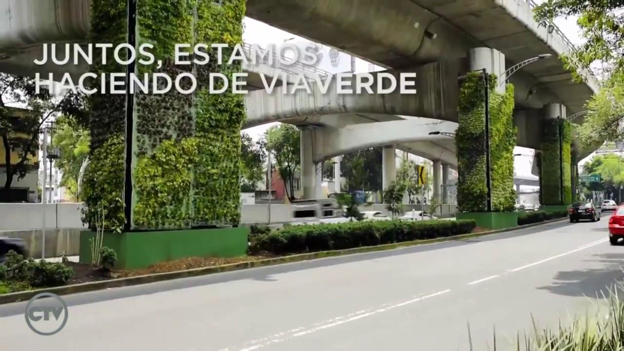 Jardines verticales bajo un puente en m xico por verde for Verde vertical jardines verticales